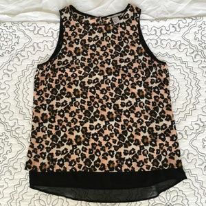H&M Leopard Print Sleeveless Blouse